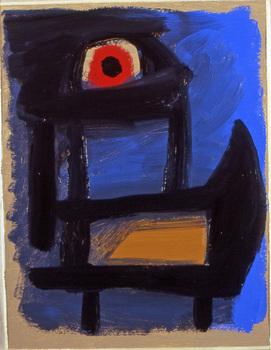 2008_-_blue_black_bird_-_oil_on_paper_-_9_x_12