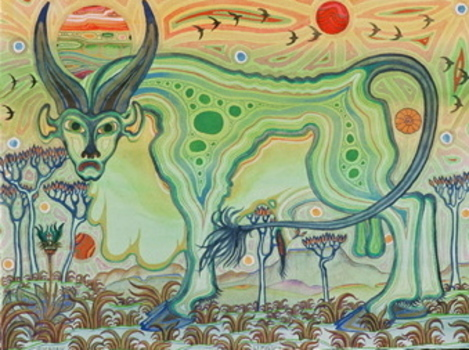 Allen__dappled_bull__watercolor