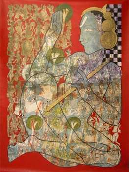 2-_ramesh_gorjala_krishna_leela-43x57inches-mixed_media_on_canvas-2007