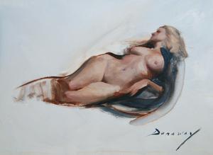 Dunaway_pntg_reclining_nude__12x16