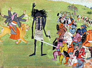 Durga_and_kali_fight_the_demon_200