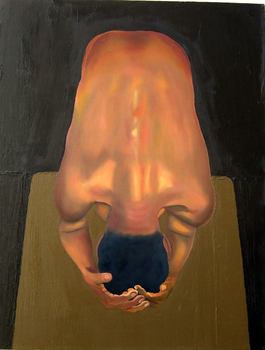 Bend_male_figure_oil_on_canvas_22in_x_28in