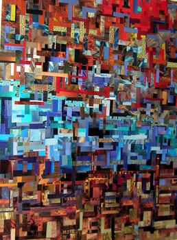 Sheryl_renee_dobson_liberty_paper_collage_in_black_artist_as_activist_exhibit_at_corridor_gallery