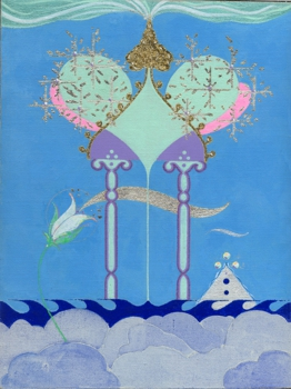 Kingdom-gouache__gold_and_silver_leaf_on_canves_8