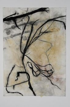 Walks_in_a_dry_season-42x30-mixed_media