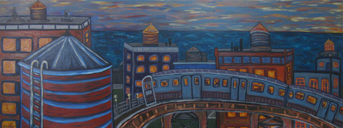Sunset_on_the_brown_line__acrylic_on_wood_panel__80x30__2009___1875