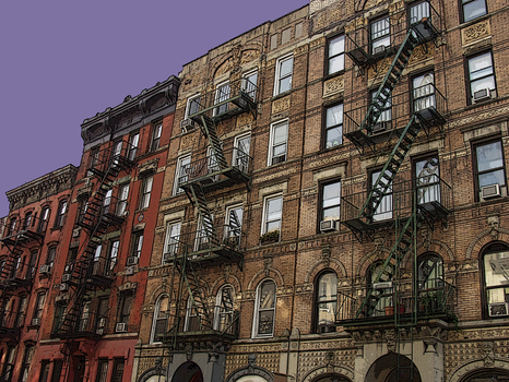 East_village_fire_escapes__new_york___digitally_enhanced_photograph__2009