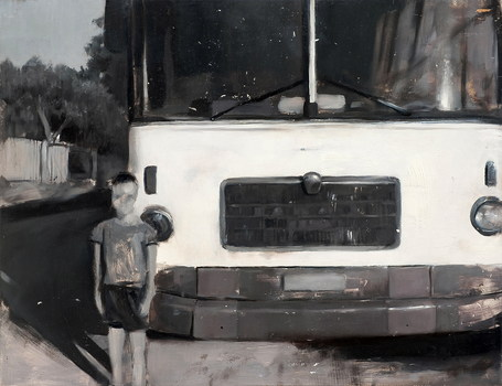 Bus_school__oil_on_wood__30x40__2009