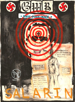 Gwb___the_idiots__acrylic_and_charcoal_on_canvas__40in_x_30in__2003_