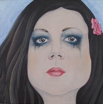 Barbara_jurkov_ek__self-portrait__avtoportret___2009__mixed__on_canvas__40x40_cm_