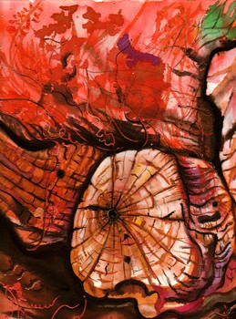 _wood_trunk_amorgos__inks_on_canvas