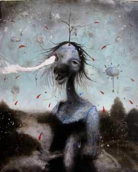 Anthony_pontius_-_the_maiden_-_oil___mixed_media_on_wood_panel_-_2010