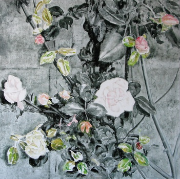 _roses_and_thorns__2008_bk_oil_on_canvas_50x50cm