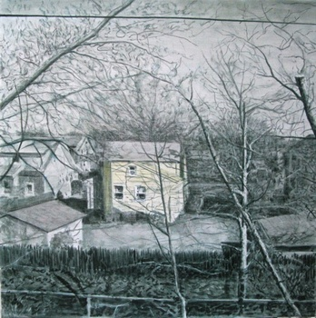 House_in_the_wilderness_2010__oil_on_canvas_50x50cm_ra