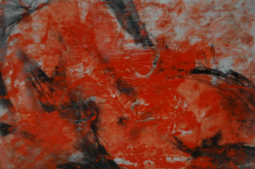 Itchyback_charcoalonpaper_encaustic
