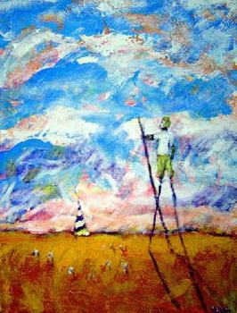 Stilts_in_a_field_by_david_simpson