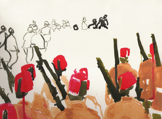 Foreign_legion_ink_on_sanded_paper