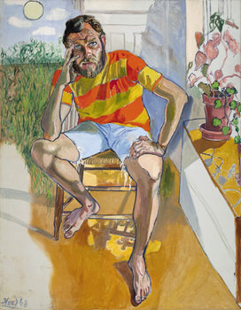 Alice-neel-painting-richard-gibbs-1968-oil-on-canvas