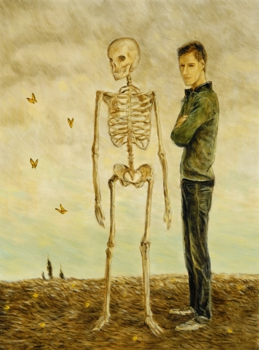 A_boy_with_a_skeleton_and_monarchs