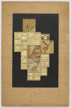 Nevelson_untitled_1966_paint__pencil_and_wood_collage_on_board_48_x_31_inches