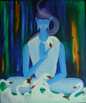 Buddha_with_swans36x30_720
