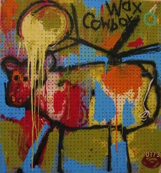 Moo__4_x5___acrylic__spray_paint_and_mixed_media_on_peg_board__2008