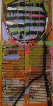 Striped_man__3_x7__acrylic__spray_paint_and_mixed_media_on_folding_closet_door__2008