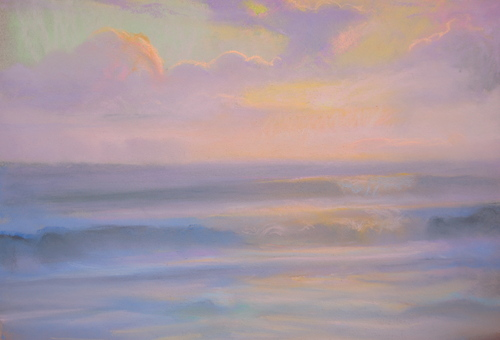 Peter_adams_-_santa_monica_summer_sunset_pastel_12x16