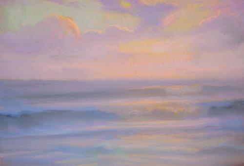 Peter_adams_-_santa_monica_summer_sunset_pastel_12x16