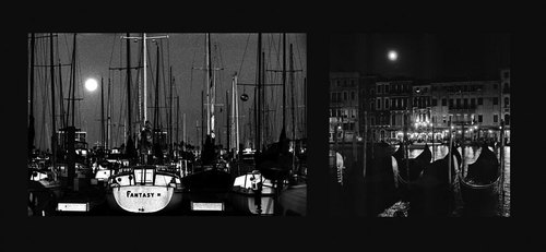 Boats-with-full-moon-diptych