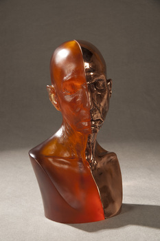 Judy_chicago__glass_and_bronze_toby_mug