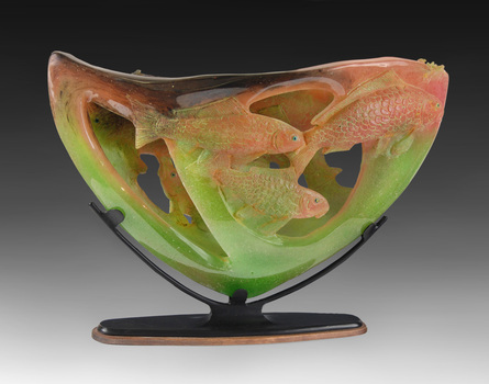 Charlie_miner__koi_sunrise__2009__cast_glass__18_x_27_x_9_inches