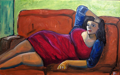 Repose_in_red_-_120cmx76cm