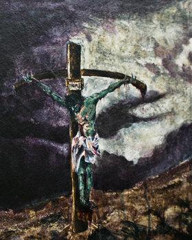 Chrishallartworkcrucifixion