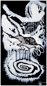The_white_wolf_-__48_inches_x_90_inches_-epoxy_resin_and_pigments_on_canvas_-_year_2007