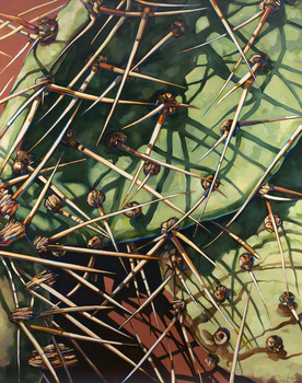 John_fincher__jva_cactus__2009__oil_on_linen__56_x_44_inches