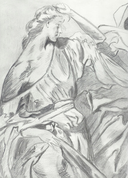 Robert_lee__reflection__1997__pencil_on_paper__9in_x_12in