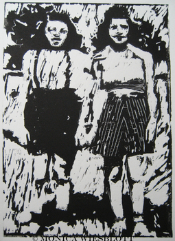 Harriet_and_rae__linocut