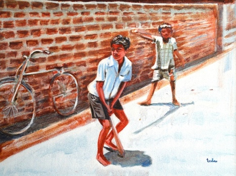 20100903054335-2_gully_cricket_12x16_acrylic_on_canvas_framed