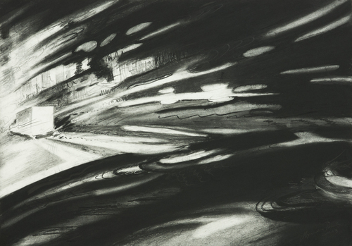 Pursuit__16x11__graphite_and_charcoal_on_paper_2008
