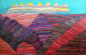 Lois_ann_barnett_-_bay_area_mountains_-_26x40_inches_-_pencil_on_paper