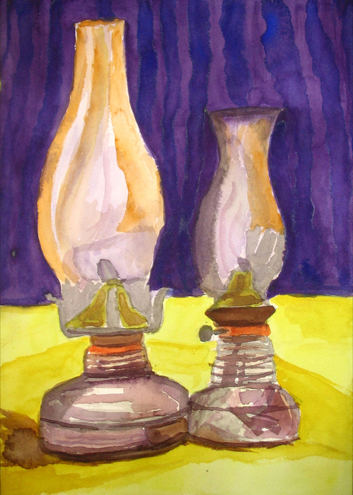 20110225233430-two_lamps_water_color_on_handmade_paper_12_by_16
