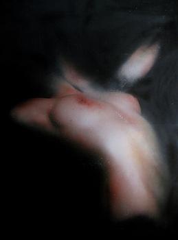 20110305042418-marco_rea_-_senza_titolo__serie_pensieri_carnali____2010_-_pittura_spray_su_manifesto_pubblicitario__cm_110x90