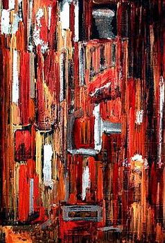 New_york_city__55x80_mixed_media_on_cartoon_2007_sv