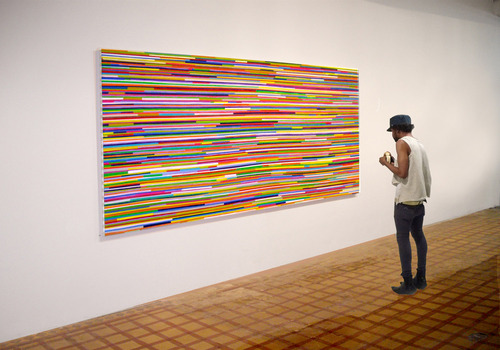 20110521173001-040_installation_view__painting_65x140___acrylic_on_canvas_union_gallery_new_york__2009