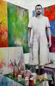 20110607102509-miljan_suknovic_self_portrait_wearing_the_dress_83x53___acrylic_on_canvas__2011