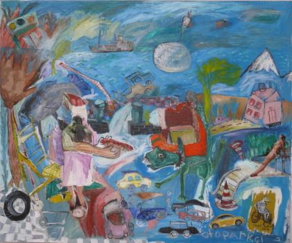2007_parking_attendant__100cmx120cm__mixed_media_on_canvas