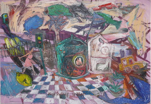 2007_k_z_ltoprak_i__klar_70cmx100cm_mixed_media_on_canvas