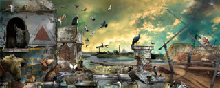 20110817184506-ranbir-kaleka-conference-of-birds-and-beasts--digital-print-on-canvas