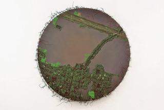 20111012003830-lakshman_rekha__oil_on_canvas__thorn__jute__6ft_diameter__2011jpg